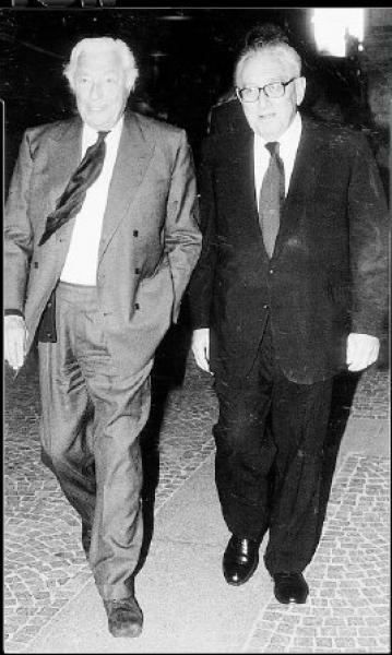 GIANNI AGNELLI E HENRY KISSINGER