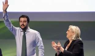 MATTEO SALVINI E MARINE LE PEN A MILANO