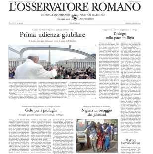 osservatore romano 30 gennaio 2016 nessuna traccia del family day in prima