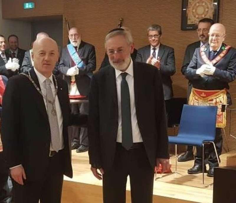 la visita del rabbino riccardo di segni a stefano bisi grande oriente d italia 1