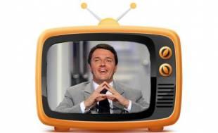 renzi televisione