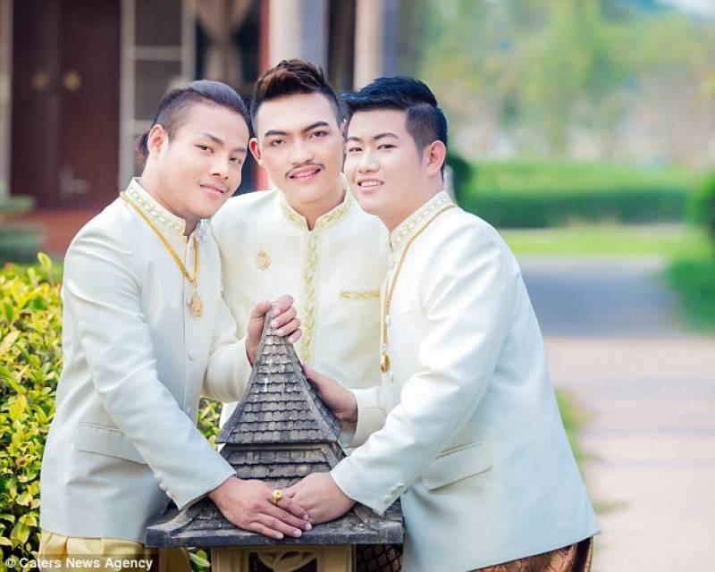 Matrimonio Simbolico In Thailandia : Non cÈ gay senza tre in thailandia tre uomini convolano a nozze