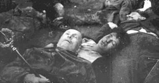 Mussolini e Petacci - Piazzale Loreto