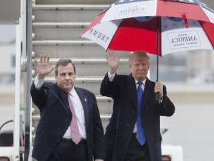 chris christie con donald trump