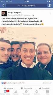 rudy cavagnoli alle gazebarie con amici napoletani