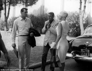 Rock Hudson e Cary Grant a Cinecitta