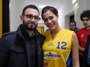alice sabatini con eddy magri partita basketartisti