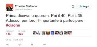 ERNESTO CARBONE E IL SUO CIAONE AL REFERENDUM