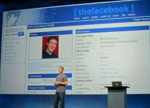 il primo profilo facebook fu di zuckerberg