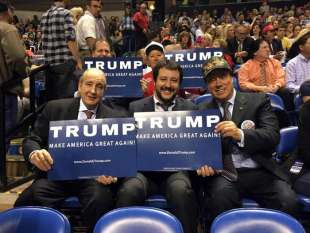 SALVINI ALL INCONTRO CON TRUMP
