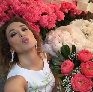 barbara durso e i fiori ricevuti