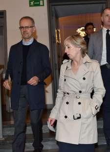 il ministro stefania giannini col marito luca rossello (1)
