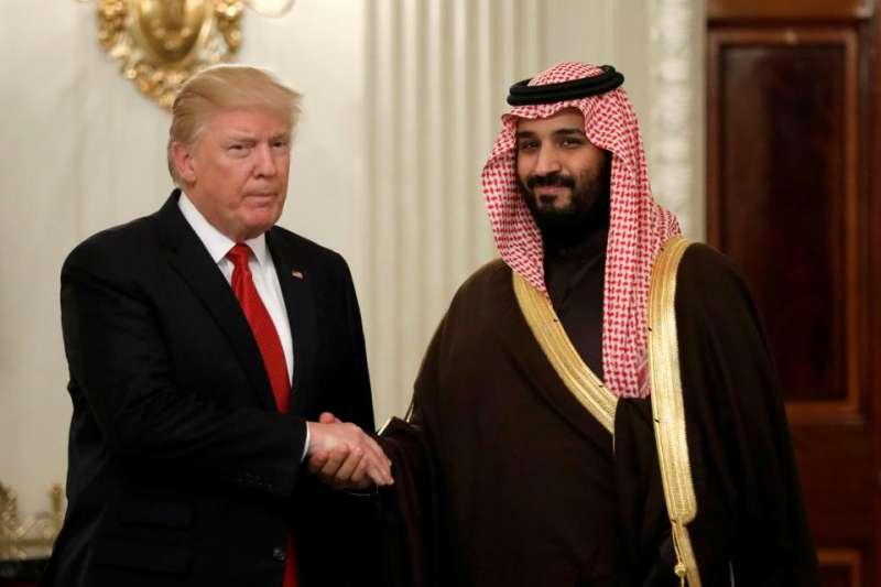 Risultati immagini per Mohammed bin Salman e Trump immagini