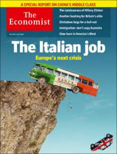 the economist banche italiane in copertina italian job