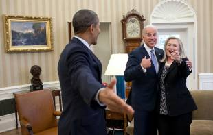 OBAMA JOE BIDEN E HILLARY CLINTON