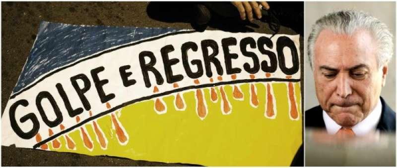 Risultati immagini per Brasile proteste contro temer