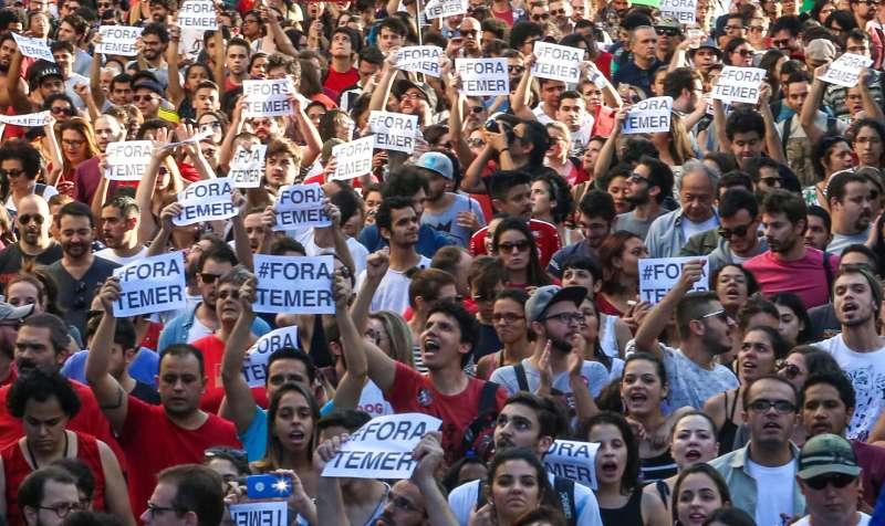 Risultati immagini per brasile proteste temer