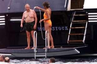 carlo azeglio ciampi sullo yacht di merloni