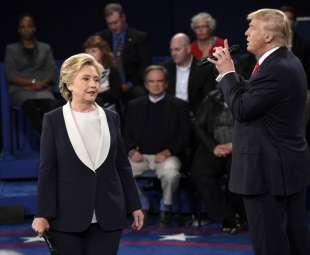 il secondo confronto tv tra trump e hillary clinton 7