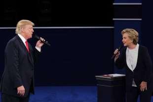 il secondo confronto tv tra trump e hillary clinton 9
