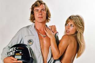 james hunt con la modella sue shaw