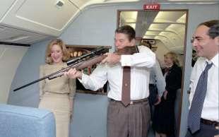 reagan con il fucile
