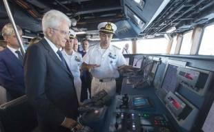 mattarella in oman con la marina militare italiana 5