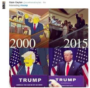 i simpson predissero trump presidente