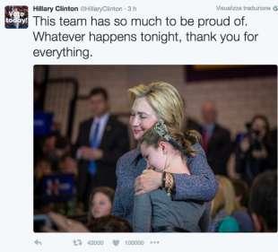 il tweet di hillary clinton che sembra pronta alla sconfitta