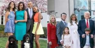 la famiglia obama e la famiglia trump