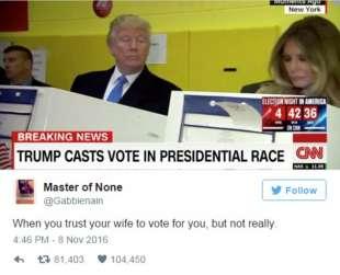 quando non ti fidi del voto di tua moglie