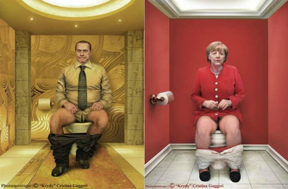 Da obama a berlusconi dalla merkel alla regina elisabetta for Suo e suo bagno
