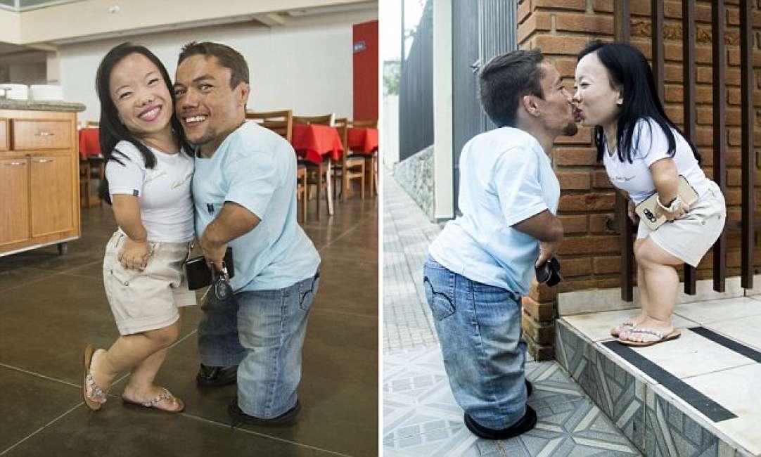 Nei panni della coppia pi bassa del mondo in brasile tra for Statua piu alta del mondo
