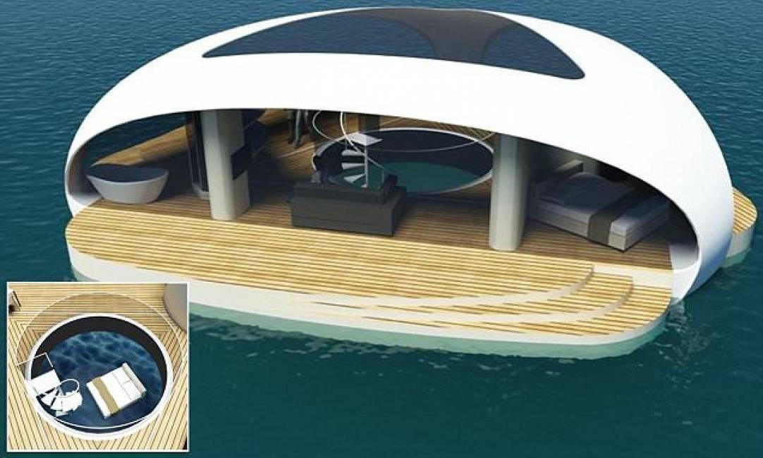 vacanze galleggianti – ecco la villa galleggiante con stanza da ...
