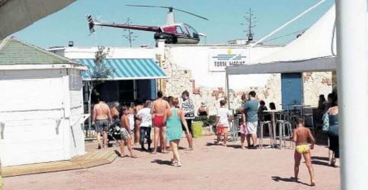 Un Elicottero : Panico a tor san lorenzo un elicottero atterra a pochi metri dai
