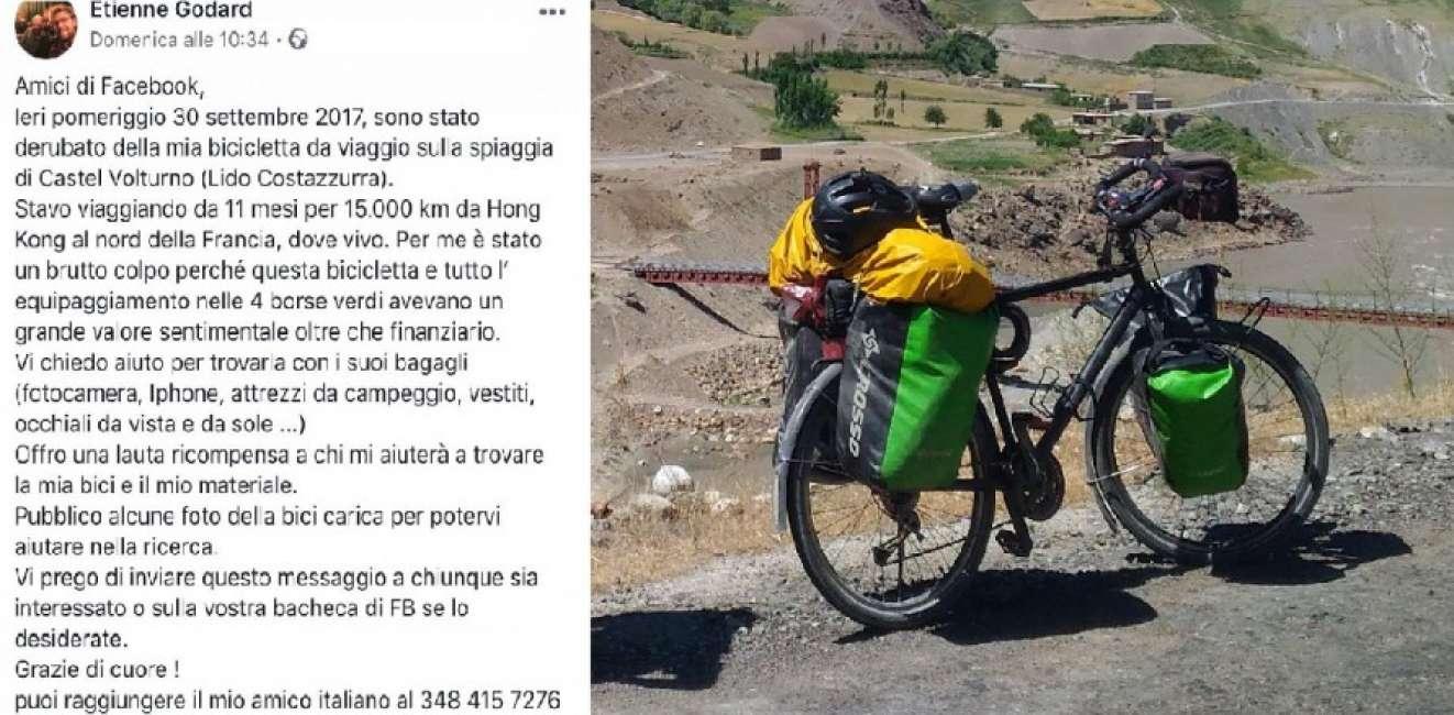 étienne Godard Stava Per Concludere Il Giro Del Mondo In Bicicletta